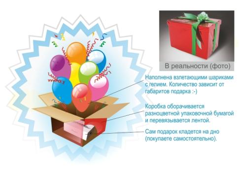 Коробка сюрприз своими руками с шарами